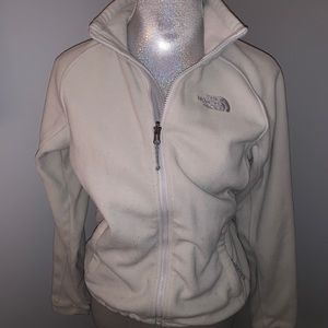 Soft North Face Jacket White